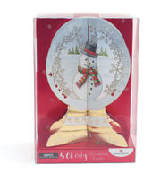 Box of 5 Frosty Snowman NSPCC Charity Christmas Cards