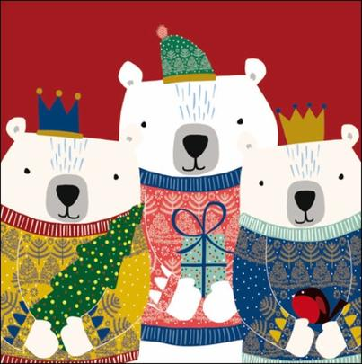 Pack of 5 We Three Kings Childline Charity Christmas Cards