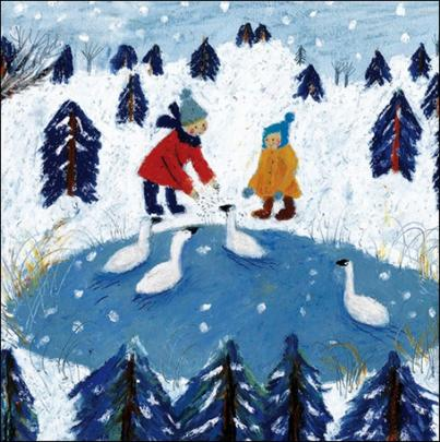 Pack of 5 December Delights Childline Charity Christmas Cards