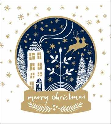 Pack of 5 Magical December Shelter & Crisis Charity Christmas Cards