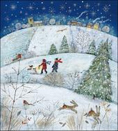 Pack of 5 Christmas Joy Shelter & Crisis Charity Christmas Cards