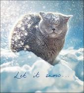 Pack of 5 Let It Snow Cat Shelter & Crisis Charity Christmas Cards