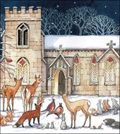 Pack of 5 Festive Visit Shelter & Crisis Charity Christmas Cards