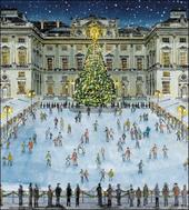 Pack of 5 Festive Skating Alzheimer's Society Charity Christmas Cards