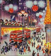 Pack of 5 Magical London Alzheimer's Society Charity Christmas Cards