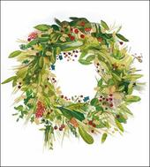 Pack of 5 Christmas Wreath Alzheimer's Society Charity Christmas Cards