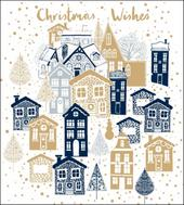 Pack of 5  Glitter Christmas Marie Curie Charity Christmas Cards