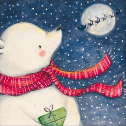 Pack of 5 Christmas Bear Samaritans Charity Christmas Cards