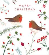 Pack of 5 Christmas Robins Samaritans Charity Christmas Cards