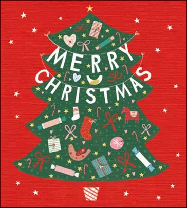 Pack of 5 Festive Tree Action For Children Charity Christmas Cards