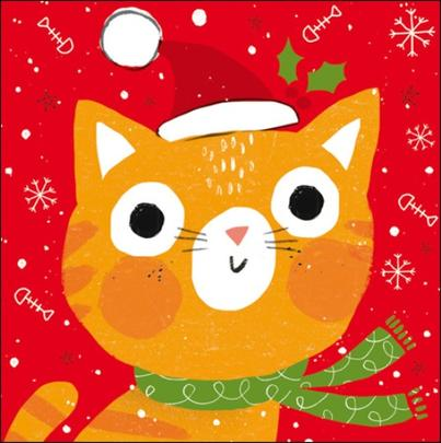 Pack of 5 Festive Cat RNLI Lifeboats Charity Christmas Cards