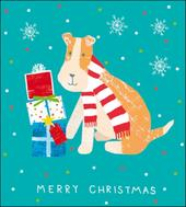 Pack of 5 Festive Dog RNLI Lifeboats Charity Christmas Cards
