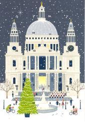 City Christmas Advent Calendar Christmas Greeting Card