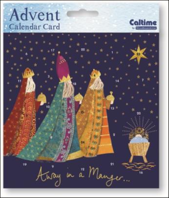 Three Kings Advent Calendar Christmas Card