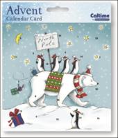 North Pole Advent Calendar Christmas Card