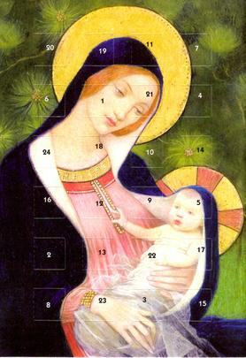 Jesus Marianne Stokes Advent Calendar Christmas Greeting Card