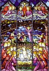 Nativity Window Advent Calendar Christmas Greeting Card