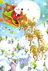 Father Christmas Advent Calendar Christmas Greeting Card