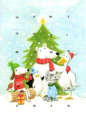 Festive Friends Advent Calendar Christmas Greeting Card