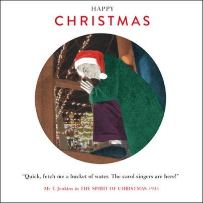 Carol Singers Funny Christmas Greeting Card