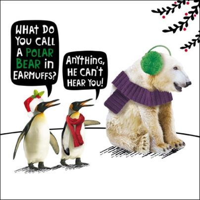 Polar Bear Funny Crackerjack Christmas Card