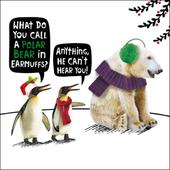 Polar Bear Funny Crackerjack Christmas Card