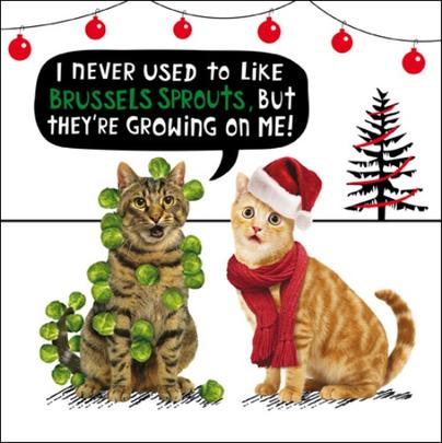 Brussel Sprouts Funny Crackerjack Christmas Card