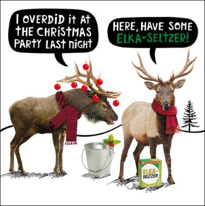 Elka-Seltzer Funny Crackerjack Christmas Card