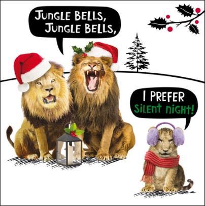 Jungle Bells Funny Crackerjack Christmas Card
