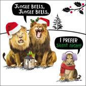 Jungle Bells Funny Crackerjack Christmas Card