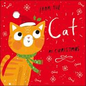 Happy Christmas From The Cat Cute Christmas Card