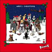 Carol Singing Dogs Funny Off The Leash Christmas Card