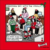 Family Christmas Funny Off The Leash Christmas Card