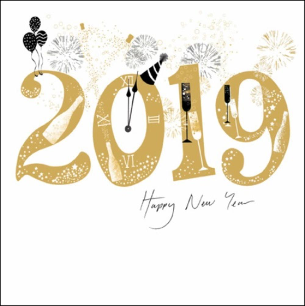 Happy New Year 2019 Christmas Card | Cards | Love Kates