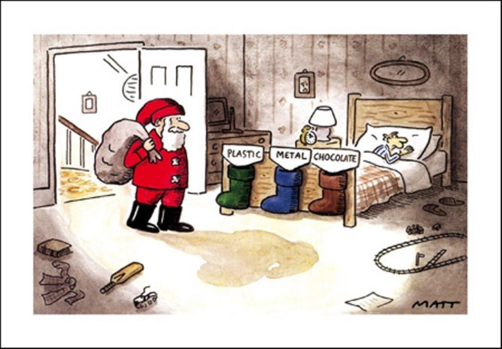Telegraph Matt Sack Sorting Christmas Greeting Card