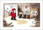 Telegraph Matt Sack Sorting Christmas Greeting Card