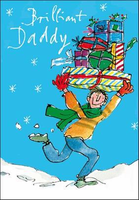 Brilliant Daddy Quentin Blake Christmas Card