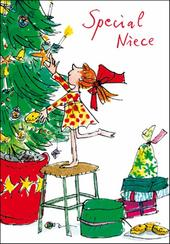 Special Niece Quentin Blake Christmas Card