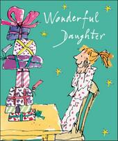 Wonderful Daughter Quentin Blake Christmas Greeting Card