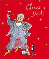 Cheers Dad Quentin Blake Christmas Greeting Card