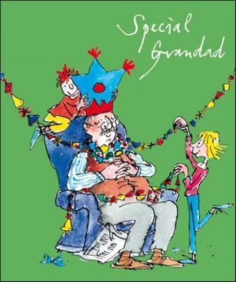 Special Grandad Quentin Blake Christmas Greeting Card