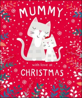 Mummy Cute Tiger Tail Christmas Greeting Card