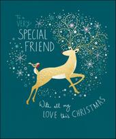 Very Special Friend Peach & Prosecco Christmas Greeting Card