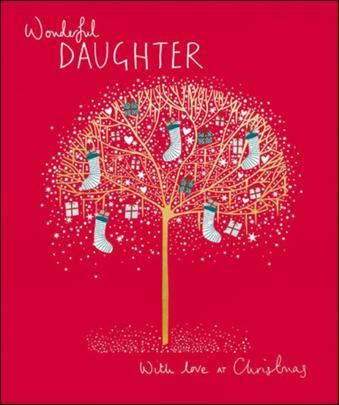 Wonderful Daughter Peach & Prosecco Christmas Greeting Card