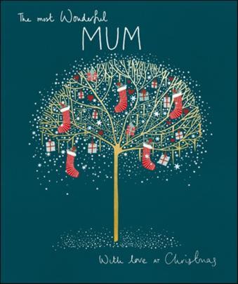 Wonderful Mum Peach & Prosecco Christmas Greeting Card