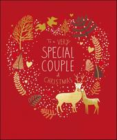 Very Special Couple Peach & Prosecco Christmas Greeting Card