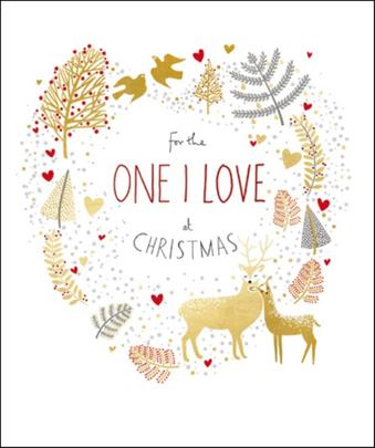 One I Love Peach & Prosecco Christmas Greeting Card