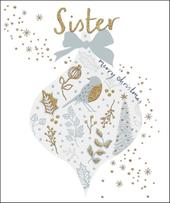 Sister Gold Glitter Emma Grant Christmas Greeting Card
