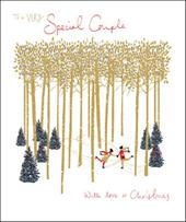 Special Couple Gold Glitter Emma Grant Christmas Greeting Card