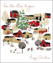 From Our House To Yours Emma Grant Christmas Greeting Card